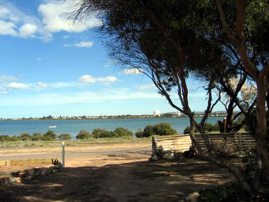 Harbour View Caravan Park - Cowell: Water view to town.