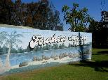Foreshore Caravan Park - Nambucca Heads: Foreshore Caravan Park welcome sign.
