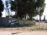 Smoky Bay Caravan Park - Smoky Bay: Smoky Bay Caravan Park welcome sign